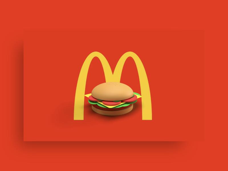 Hamburger 🍔🍔🍔 mcdonald hamburger food design adobe dimension 3d