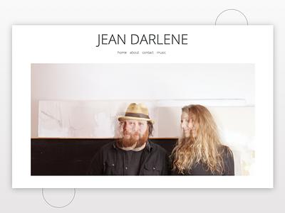 Jean Darlene flat web branding minimalist ui minimal website ux typography design