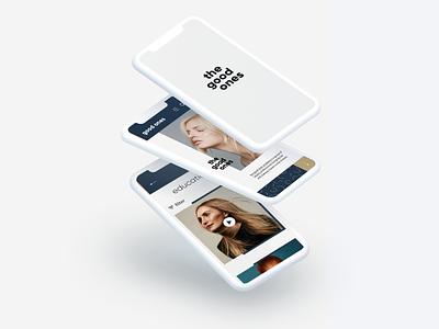 The Good Ones Academy mobile app user research user centered design type logo lettering flat web ux design minimalist website ui minimal branding ux typography design