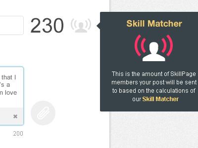 SkillPages Skill Matcher skillpages skill matcher icon attach texture grey pink clean crisp