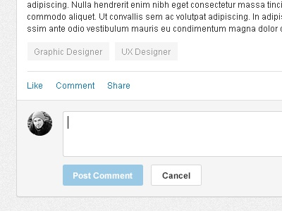 SkillPages Logged in Homepage skillpages comments likes post comment cancel button tags texture