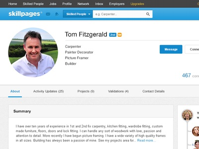 SkillPages Profile Redesign