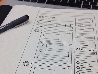 Dashboard Wireframe Sketch wireframe sketch wireframe dashboard logged in homepage sketch paper grid paper paper sketch skillpages layout