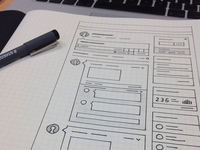 Dashboard Wireframe Sketch