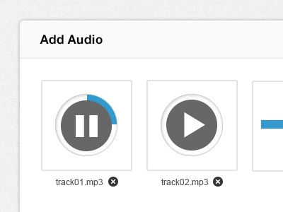 SkillPages Add Audio skillpages interface clean minimal skill pages play audio button popup