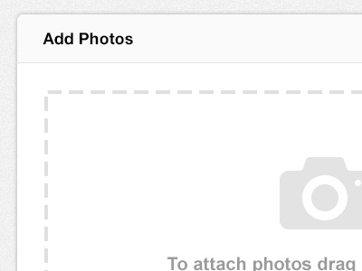 SkillPages Add Photos photo icon attach add photos attach photos clean skillpages skill pages icon upload photos popup crisp user interface ui drag and drop minimal