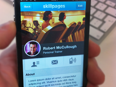 SkillPages Mobile iphone mobile circle skillpages