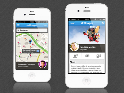 SkillPages Mobile texture skillpages ios icons mobile iphone map