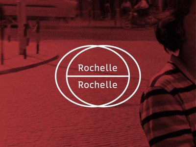 Rochelle, Rochelle shapes circles graphic design type geometric white red band logo music
