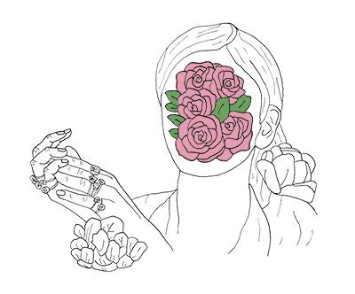 Rose/Face Shirt Design