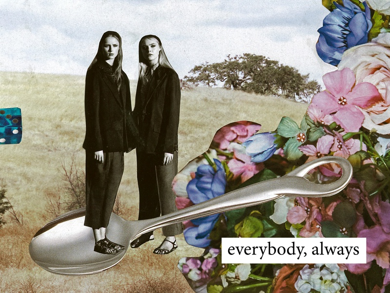 Everybody, Always cover art text spoon flowers field graphic design design music album art art collage