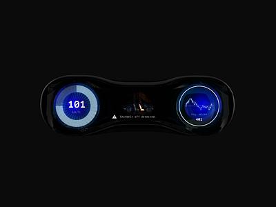 Futuristic car dashboard concept concept dashboard auto car black dark futuristic animation aftereffects c4d 3d ui design
