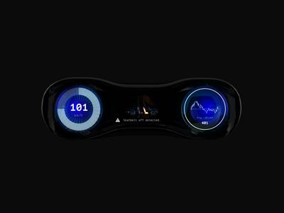 Futuristic car dashboard concept