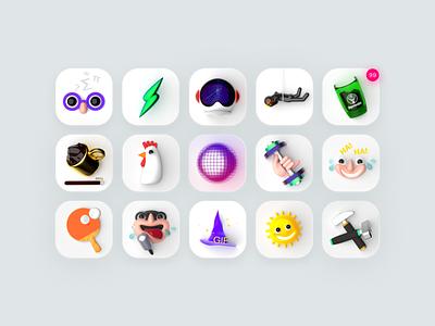 3D App Icons 3d art 3dmodeling fun 3dicon icons appicon render c4d 3d illustration design