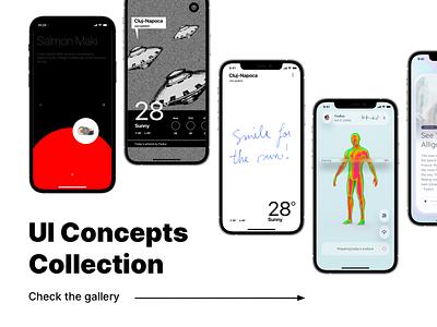 UI Concepts Collection product products interface ideas experimental experiments uichallenge app concept mobile ui design