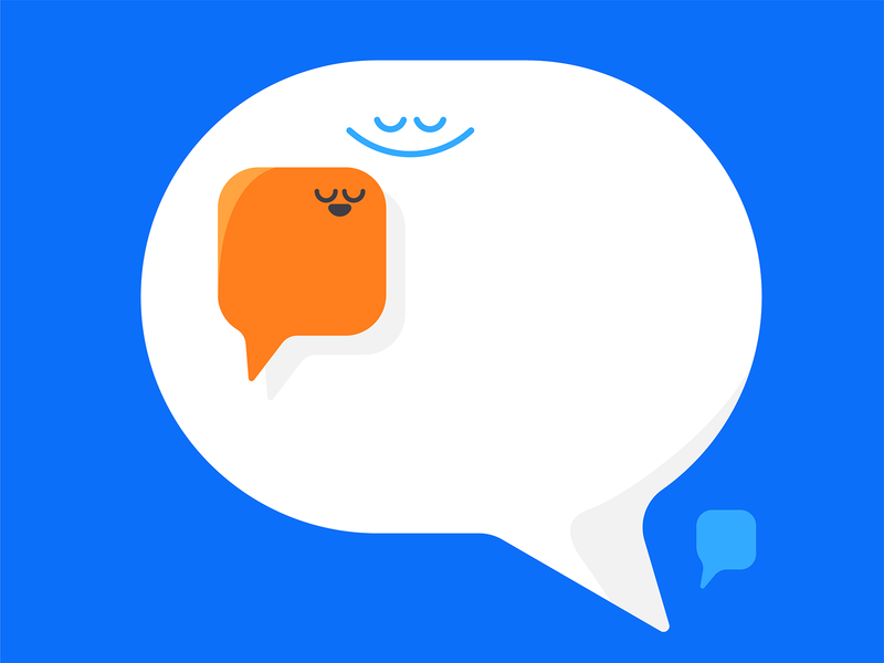 Talk it out meditation community teamwork speech bubbles communication shapes headspace editorial karenyoojin character character design illustration
