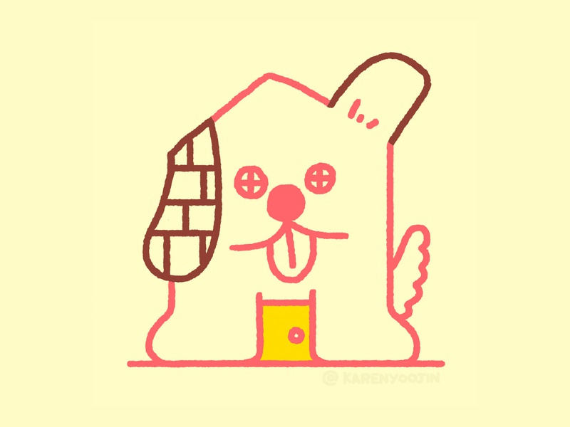 Dog House doggy house dog editorial karenyoojin character character design illustration