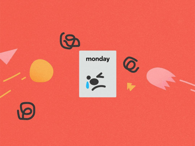 Poor Monday.. abstract shapes texture minimal illustration design character character design monday mondays