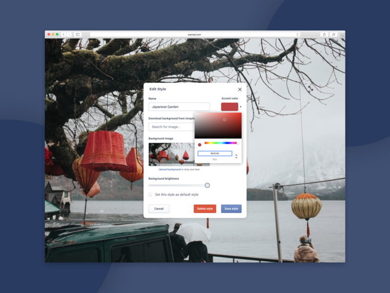 Background Settings Pannel product design saas website webdesign saas design uiux ui
