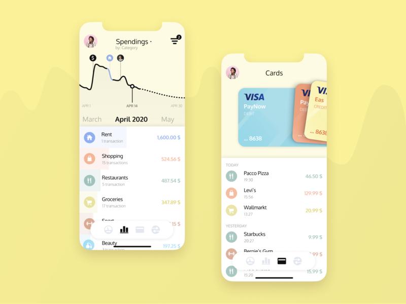Banking App Design phone mobile appdesign b2c figma finance banking bank app ux design dashboard data product design ux ui