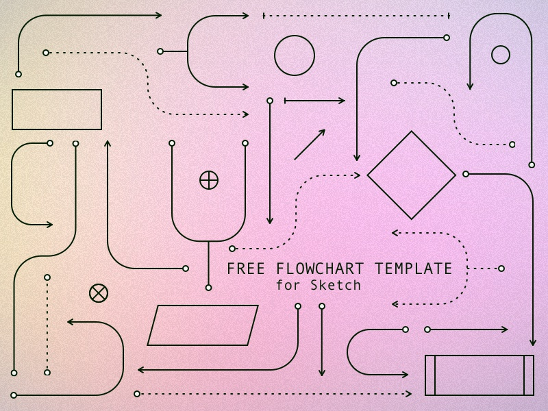 flowchart template by mac kozal dribbble. Black Bedroom Furniture Sets. Home Design Ideas