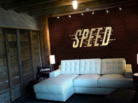 Paul Speed Photography Interior Studio Signage