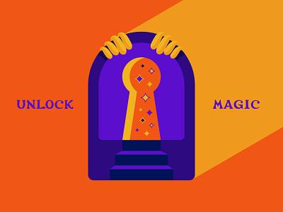 Unlock Magic magic vector illustrator design typography adobe illustrator illustration