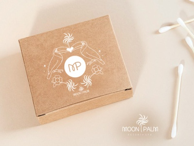 Moon Palm Resport & Spa - Packaging eco hospitality travel floral palmtree palm toucan tropical spa brand identity design branding vector typography mockup packaging adobe illustrator illustration
