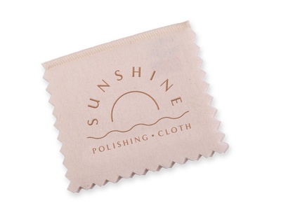 Sunshine Polishing Cloth pink pastel iconography typography branding fashion jewelry
