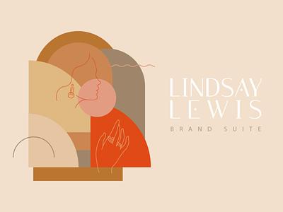 Lindsay Lewis Brand Suite brand vector logo adobe illustrator feminist feminism women typography illustration fashion jewelry lindsay lewis brand identity branding