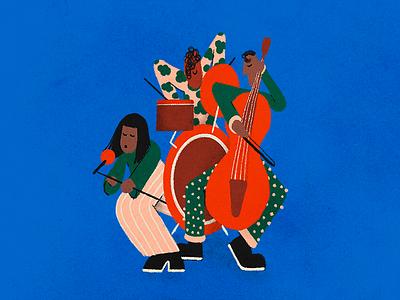 Jazzy colors illustration design