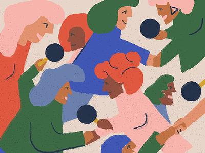 International Women's day illustration colors women