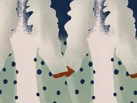 Cold weather doodle fashion 2d colors illustration design