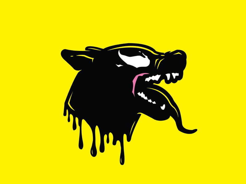Veno-Mal illustration design fanart comic animal dog malinois k9 dc spiderman venom