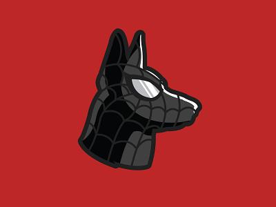 Spiderdog Black animal spidey marvel german shepherd superhero dog spiderman