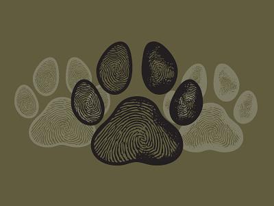 Paw Prints grunge print animal dog paw texture