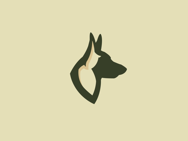 gsd avatar police wolf branding sports german shepherd logo animal dog