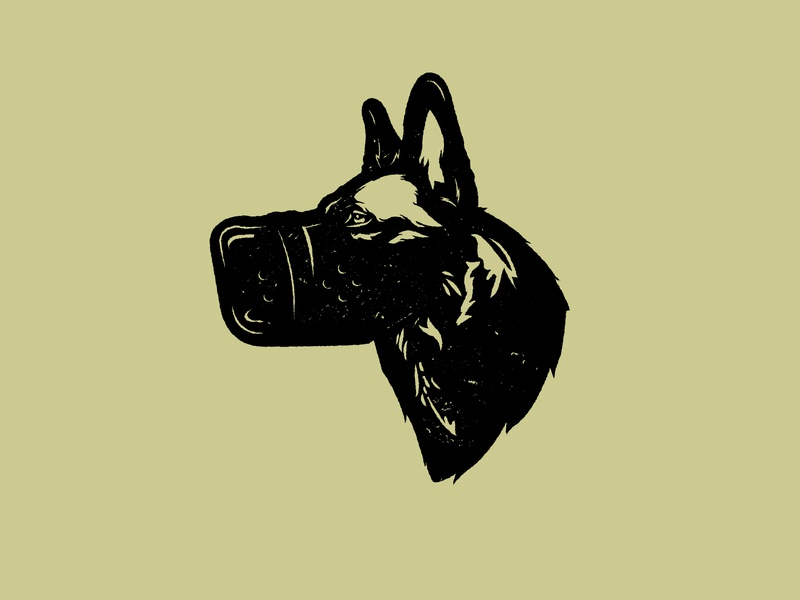 themask wolf texture muzzle german shepherd design illustrator vector dog animal
