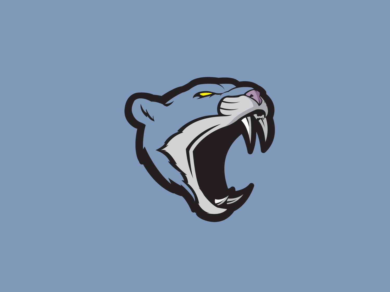 Panther sports animal illustrator flat vector illustration design cat panther