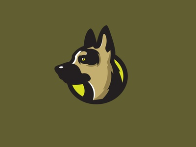 German Shepherd branding animal logo illustrator flat vector illustration design dog german shepherd