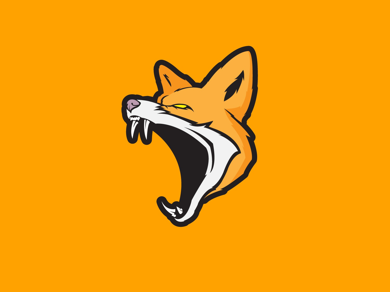 Fox sports animal logo illustrator flat vector illustration design dog wolf fox