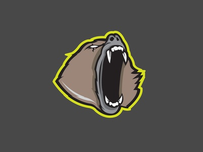 Baboon animal logo illustrator flat vector illustration design monkeys baboon