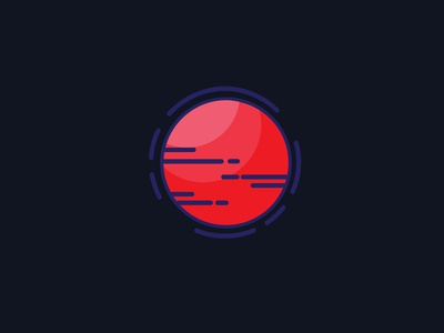 Planet illustrator flat vector illustration design moon planet space