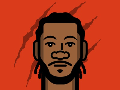 I'm a fun guy... illustrator flat vector illustration design basketball kawhi leonard nba