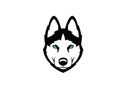 Husky puppy illustrator vector illustration design k9 animal dog husky