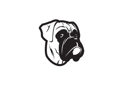 Boxer Side Eye eyes puupy boxer dog animal illustration design