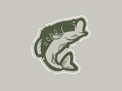 Largemouth Bass animal design illustration wilderness outdoors jumping fishing fish