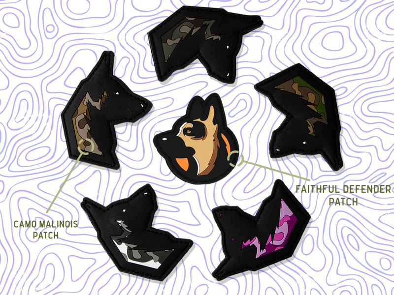 Patch Designs military police belgian malinois german shepherd branding sports dog animal design product patch
