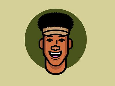 no cap selfportrait visor flat illustrator vector illustration design