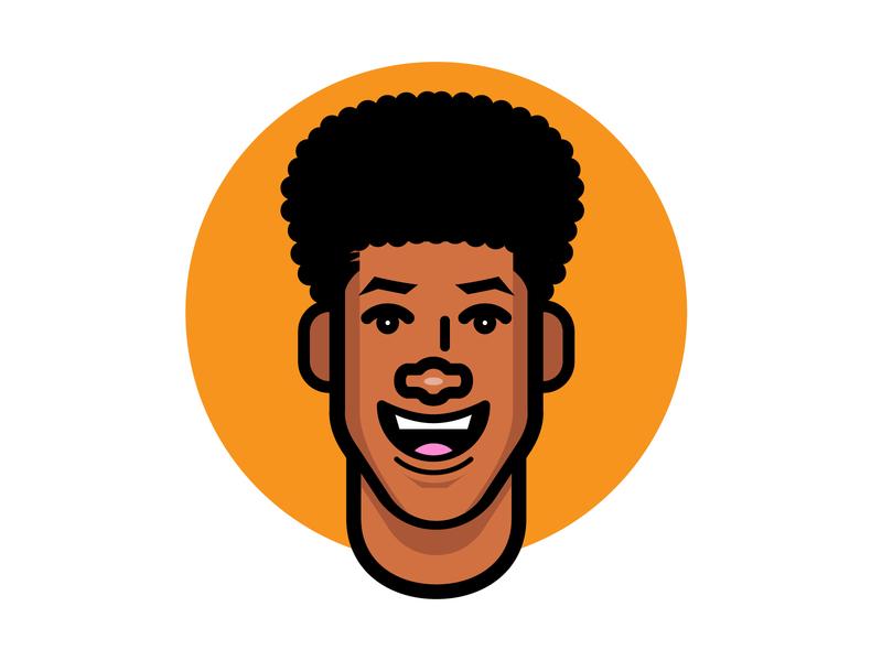 no visor hair head ui logo flat vector illustration design